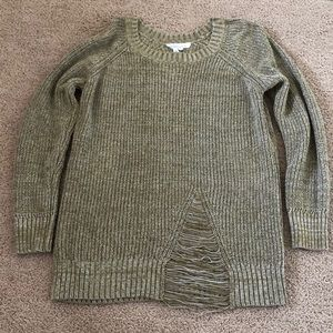 BCBGeneration Ripped Sweater